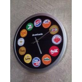 Reloj chapas refrescos