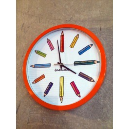 Reloj lapices colores